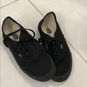 Vans youth unisex black size 3 shoes